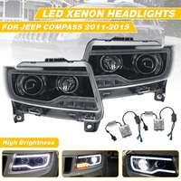 Car Styling LED Bi Xenon Headlight Lamp for JEEP for Compass 2011 2015 LED Headlight for HID Head Lamp Daytime Running Light DRL