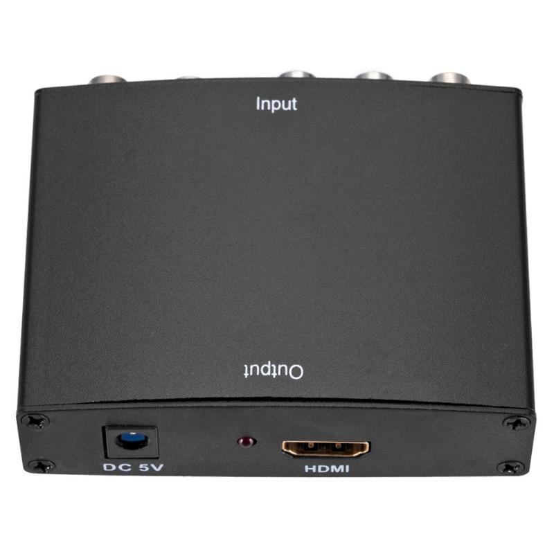 ALLOYSEED YPBPR к HDMI 1080P HDMI к RGB YPbPr Компонентный видео конвертер с R/L аудио адаптер конвертер для ТВ ПК DVD монитор