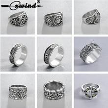 Anillos Cxwind Slavic para hombre, joyería pagana de kolovrata, Runa Signet, anillo de Talismán, joyería vikingo Norse para hombre, Bijoux Retro Punk sygnet