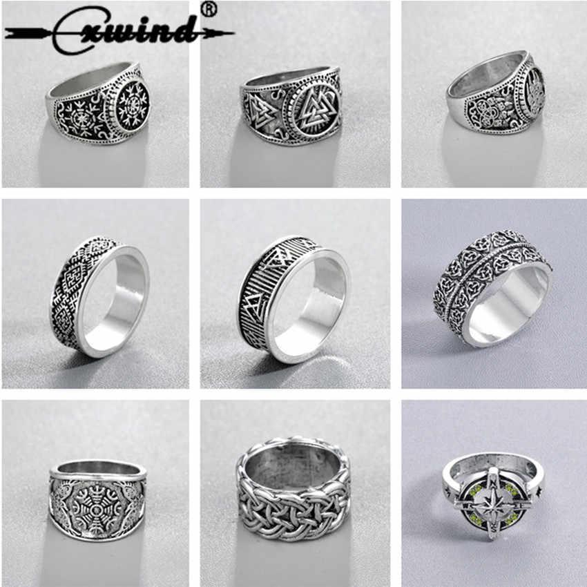Cxwind славянские мужские кольца Коловрат языческий ювелирный рун Сигнет кольцо-талисман Norse ювелирные изделия в стиле викингов для мужчин панк ретро Bijoux sygnet