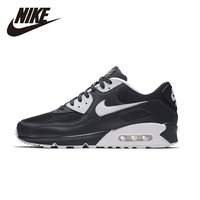 NIKE Official AIR MAX 90 ESSENTIAL Men Cushion Running Shoes Mesh Breathable Sneakers Super Light#537384 089