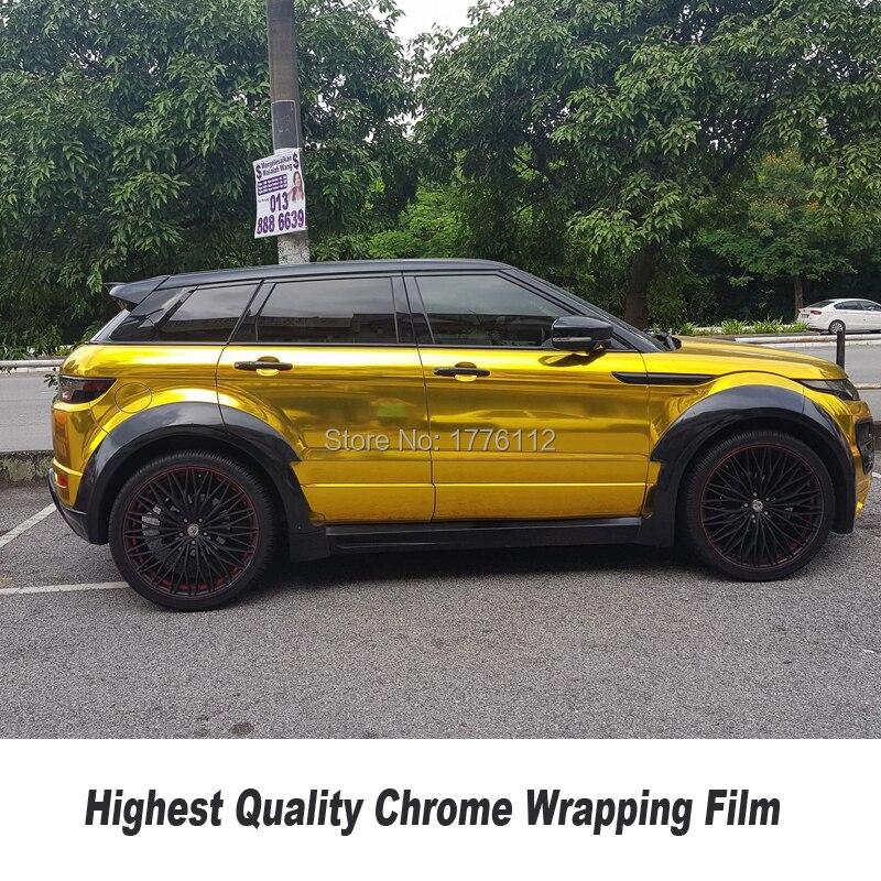 Chrome Or Flexible Miroir Chrome Or Vinyle De Voiture Body Wrap Pour Voiture Emballage 5ft X 65ft/Rouleau