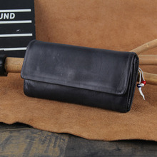 Handmade Vintage Genuine Leather Female Wallet beads Purse Leather Women's Wallet long style Clutch Bag Male purse Money Clip terse wallet handmade leather wallet mens women long money bag italian leather purse vintage engraving custom service 545 1