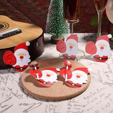 10pc Christmas Santa Claus/Penguin Candy Holder Cards Sweet Invitation Cards Home Wedding Party DIY Decor Home Table Place Cards(China)