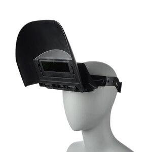 Image 3 - Draagbare Solar Automatische Verduistering Foto elektrische Veiligheid Lassen Masker Platte Flip Half Spiraalvormige Lasser Masker Helm Voor Lassen