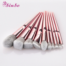 2019 New Fashion Makeup Brushes Sets 5/10PCS Metal Foundation Cosmetic Eyebrow Eyeshadow Brush Tools Soft Hair