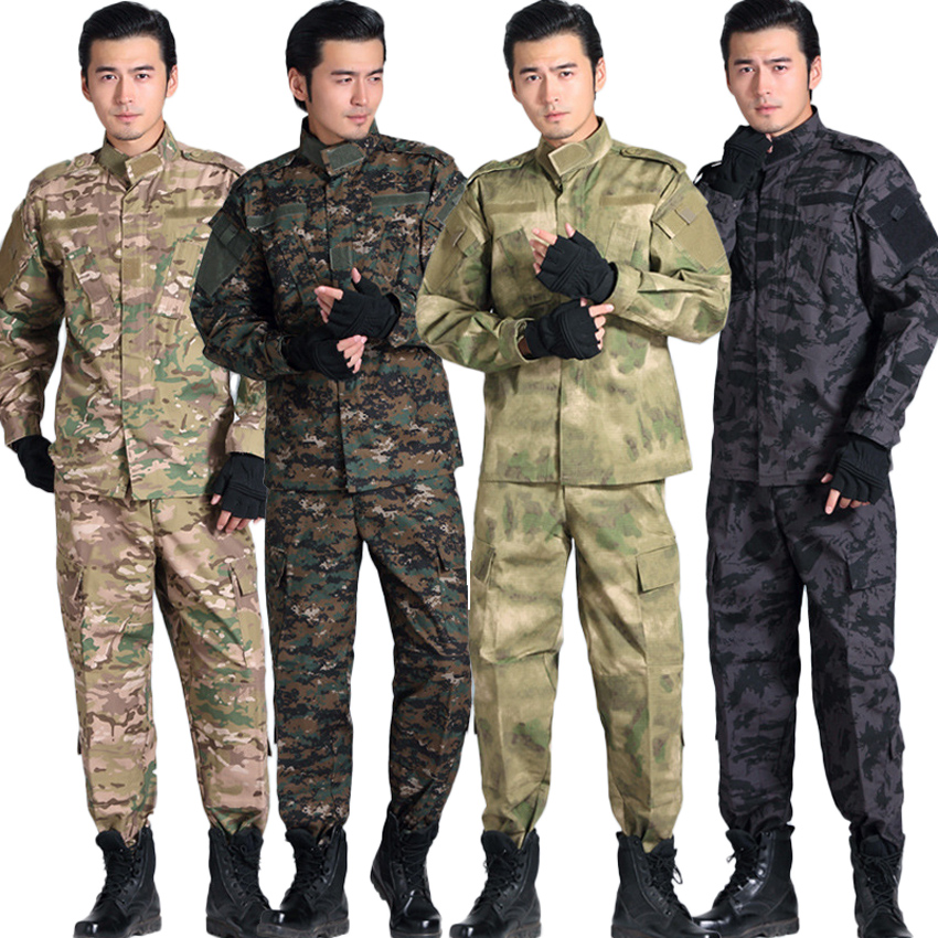 ACU Camouflage Airsoft Tactical Military Uniform for Male Desert Hunting Multicam Special Force Man Army Suit Cs Combat