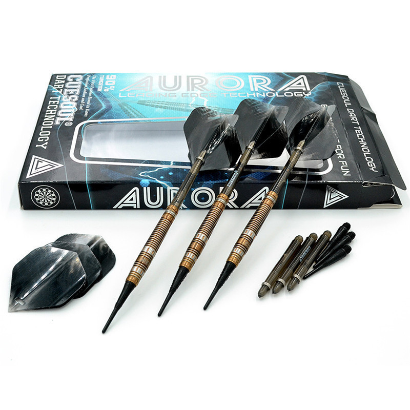 New CUESOUL Professional Electronic Soft Tip Darts With 90% Tungsten Barrel 20g 14cm Darts cuesoul 90% tungsten darts 20g 14cm darts professional game soft tip darts electronic darts nylon shafts