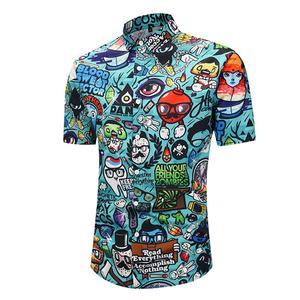 Image 3 - PLUS ขนาด 2XL ชายฤดูร้อนสบายๆการ์ตูน 3D พิมพ์เสื้อแขนสั้น Tee เสื้อ Turn Down COLLAR เสื้อฮาวาย TOP สำหรับวันหยุดชายหาด