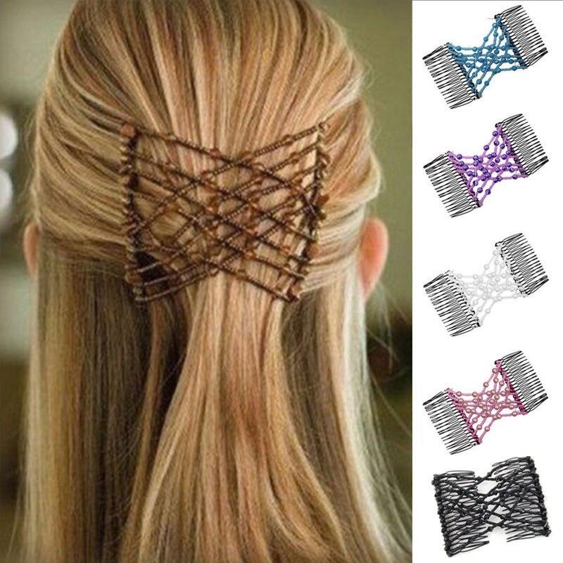 New Fashion Female Hair Clip Magic Elastic Hair Comb Women Hair Accessories Jewelry Vintage Hair Brush Headwear