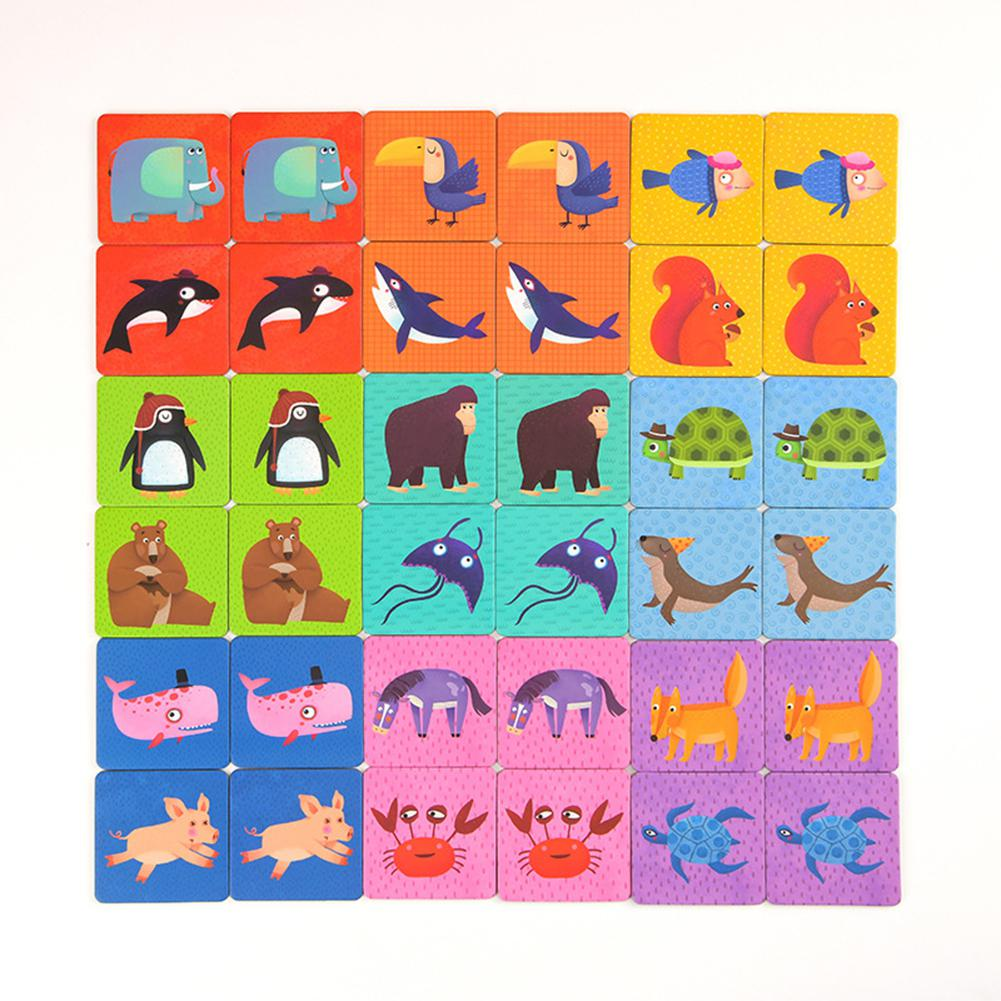None Children Paper Animal Paired Cards Baby Learning Cognitive Game Associative Memory Toys