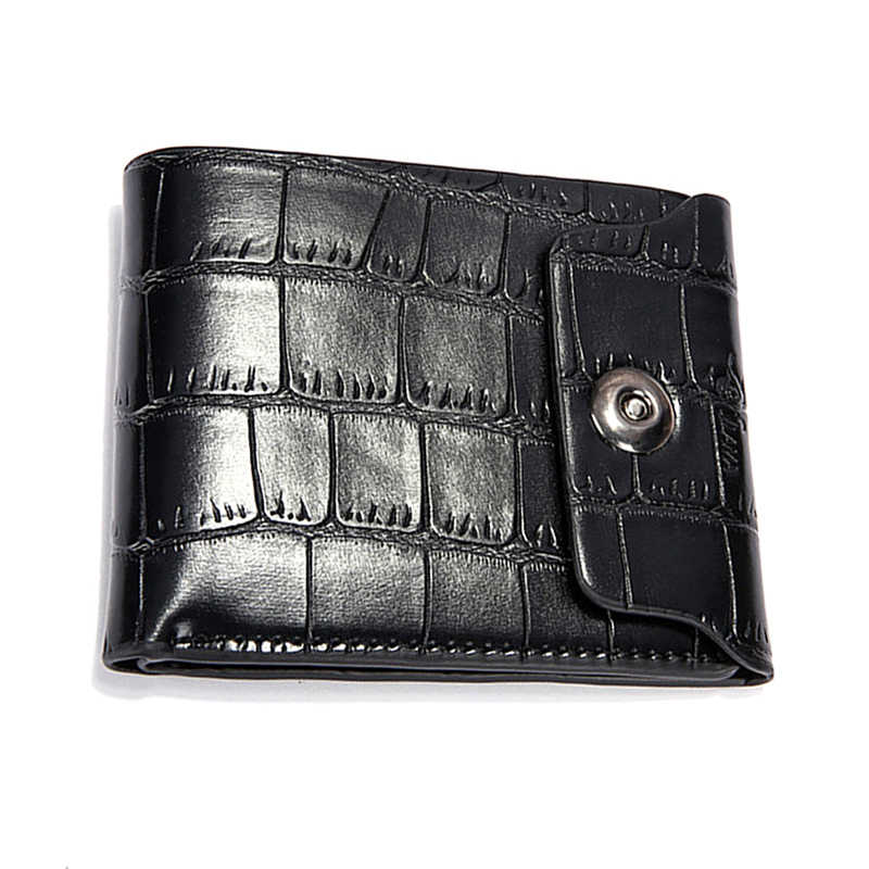 Casual Man PU Leather Bifold Alligator Patroon ID Kaarthouder Portemonnee Pocket Effen Kleur Hasp Multifunctionele Portemonnee