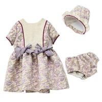 Baby Girls Dress Spain Princess Brithday Party Dresses With Hat PP Pant 3pcs Set Robe Fille Infant Toddler Suit Children clothes