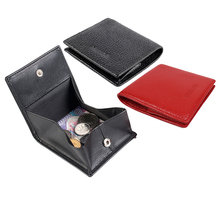 AGBIADD High Quality Genuine Leather Coin Pouch Men Women Mini Wallet Purse