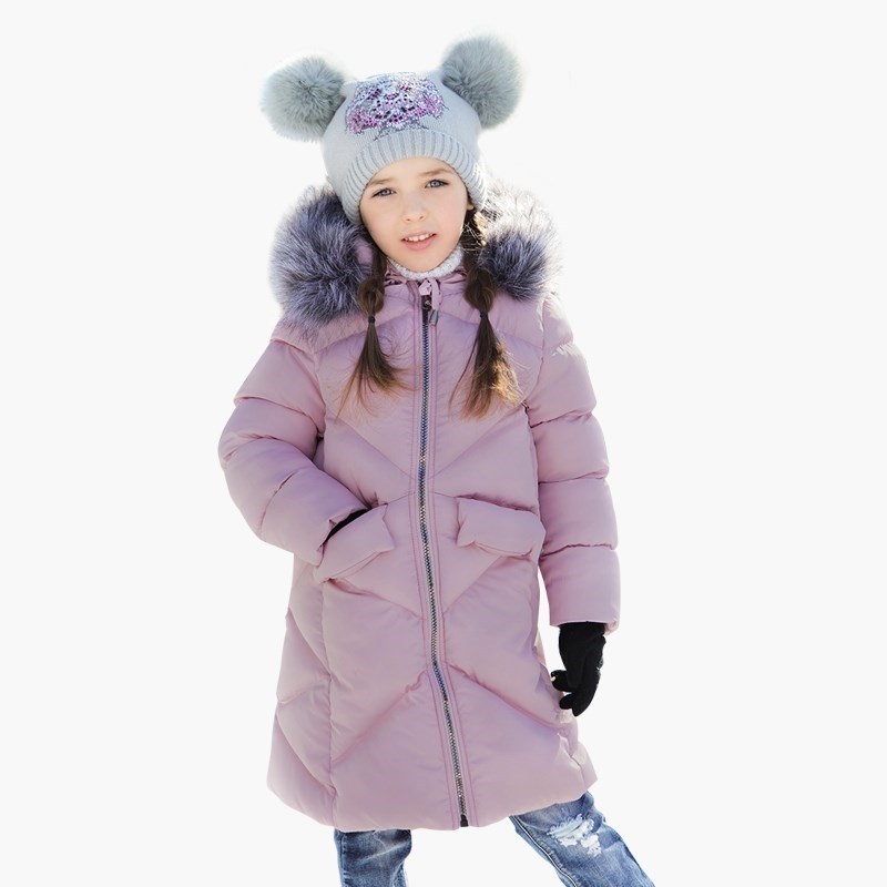 Down & Parkas Sweet Berry Coat sewing for girls children clothing kid clothes winter baby kids girls down coat clothes with faux fur hooded thicken parkas outerwear warm children girl cat printed down coat