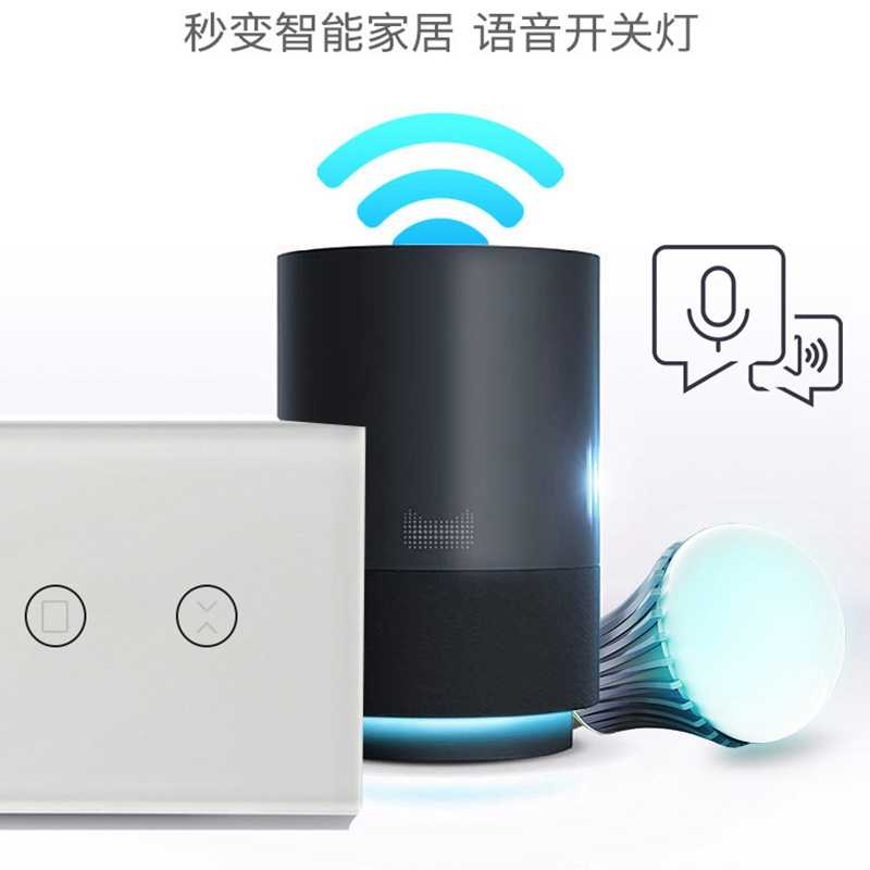 Шторка с Wifi переключатель Панель умный переключатель US Тип 100-240 V 50/60Hz для Google Home, Alexa, Wi-Fi, Поддержка app
