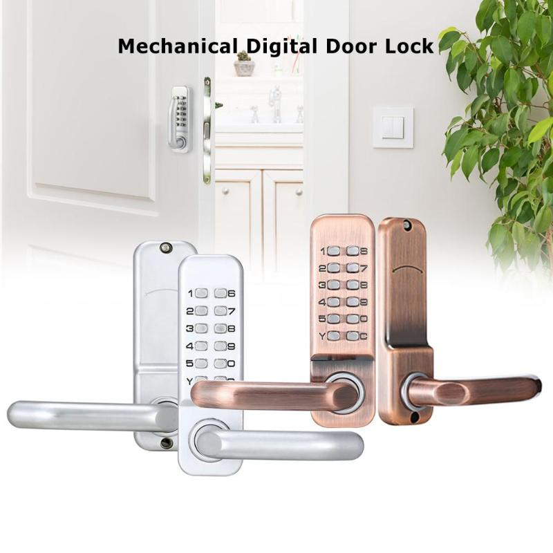 Mechanical Digital Push Button Door Lock Keyless Keypad Combination Code Lock 1 x Door Lock Front Panel 1 x 60mm Latch ManualMechanical Digital Push Button Door Lock Keyless Keypad Combination Code Lock 1 x Door Lock Front Panel 1 x 60mm Latch Manual