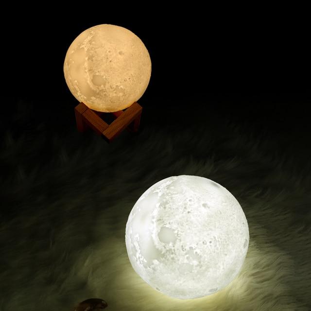 Night Cool Mist Purifier 880ML Air Humidifier 3D Moon Lamp Light Diffuser Aroma Essential Oil USB Ultrasonic Humidificador