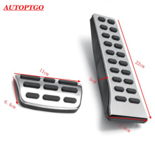2016+ AT Car Gas/Brake Pedal Pad Cover Kit For Hyundai Sonata SantaFe Mistra Tucson IX35 Kia Sorento Sportage Optima K5 KX5