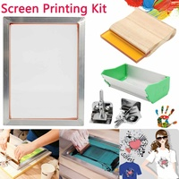 Kit de impressão de tela de alumínio  5 pçs/set a5 moldura de alumínio + braçadeira de dobradiça + coator de emulsão + ferramenta de impressão de quadro de tela de apertar peças 2019 novo