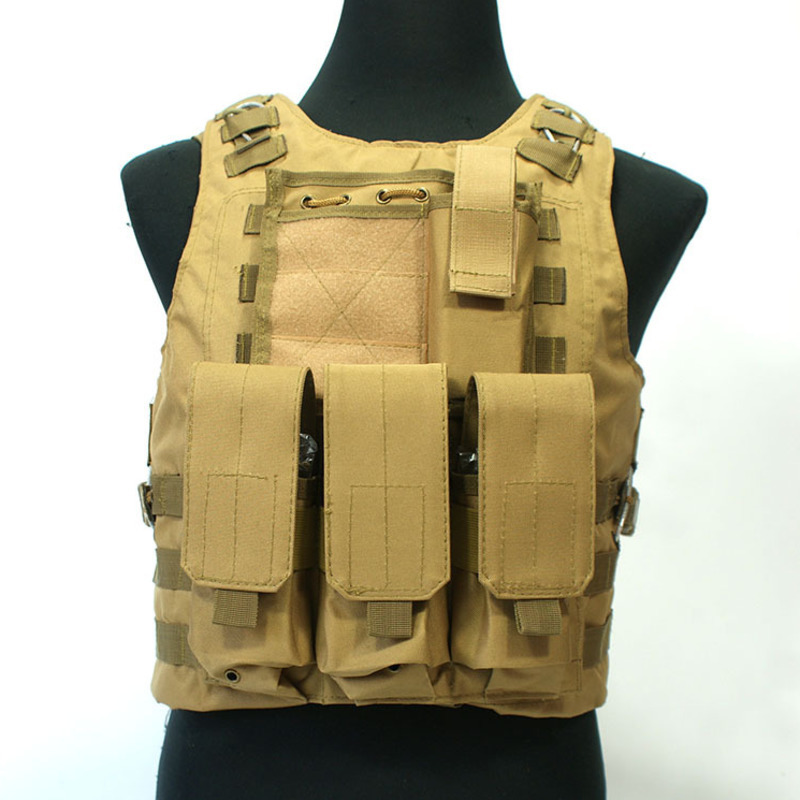 Outdoor Hunting Ciras Tactical Military Airsoft Vest Plate Carrier Unloading Chest Rig Bag Molle Camping Travel Sport Trecking 4-in Hunting Vests from Sports & Entertainment    1