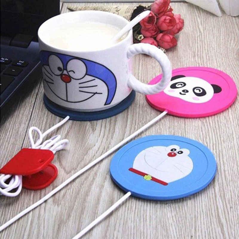 Marke Neue 2019 1 pc Heißer USB Power Suply Büro Tee Kaffee Tasse Becher Wärmer Heizung Tasse Matte Pad Coaster 3 arten Tier Cartoon Mad