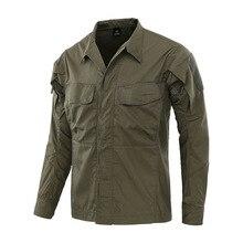Многокарманная клетчатая дышащая износостойкая военная форма для занятий альпинизмом и верховой ездой, тренировочная тактическая камуфляжная рубашка с длинным рукавом