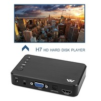 Mini Portable Full HD 1920x1080 HDMI VGA AV USB Hard Disk U Disk Player Multimedia Player H7 For Home Car Office EU Plug
