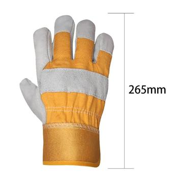 Cowhide Leather Work Gloves  5