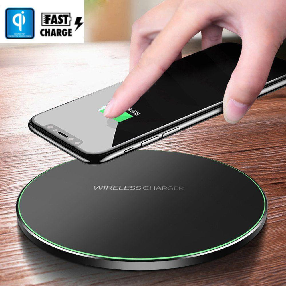 BEESCLOVER Fast Wirsless Charger For  iPhone XS Samsung Galaxy S8 S9 S10 Plus QI Wireless Charger Fast Charging Dock Mat Pad r20