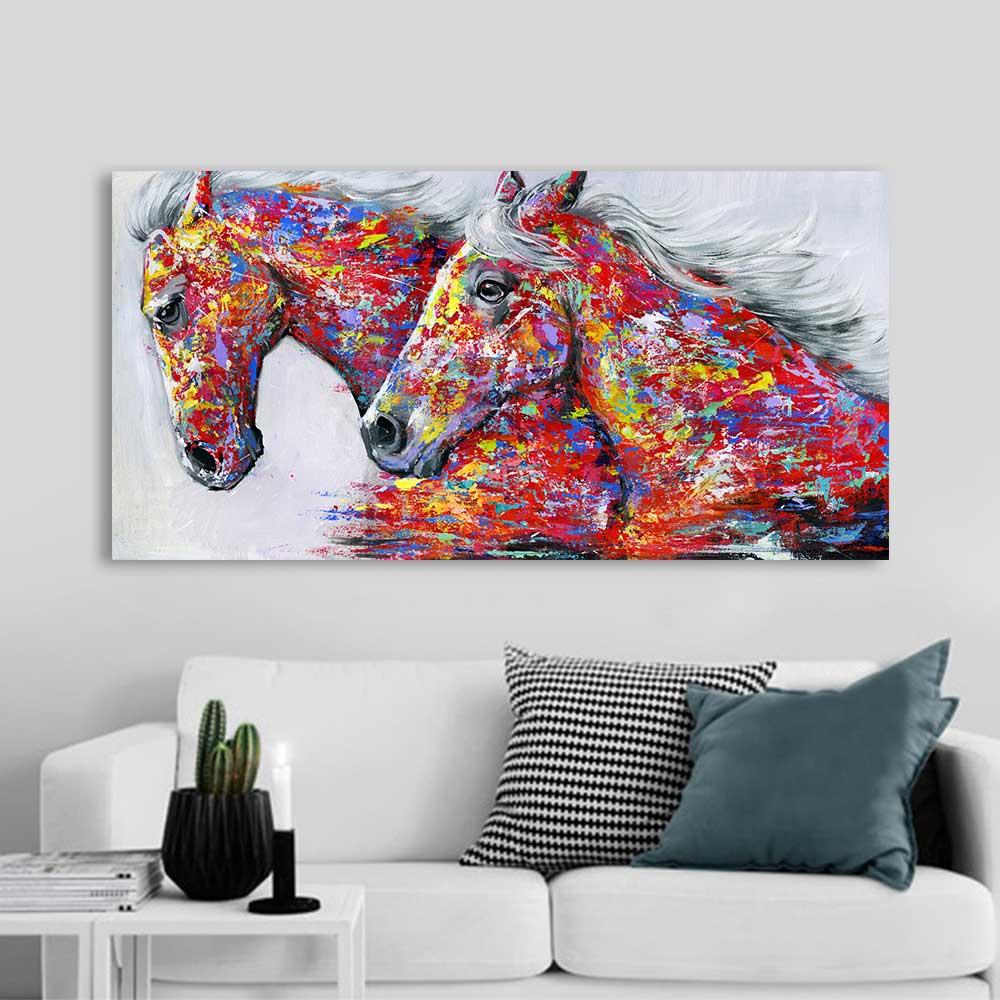 Horse canvas art 3