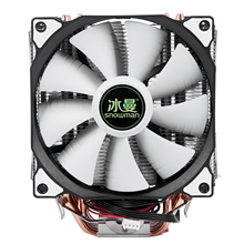 SNOWMAN 4PIN CPU Cooler 6 Heatpipeคู่พัดลมCoolingพัดลม12ซม.LGA775 1151 115X1366สนับสนุนIntel AMD