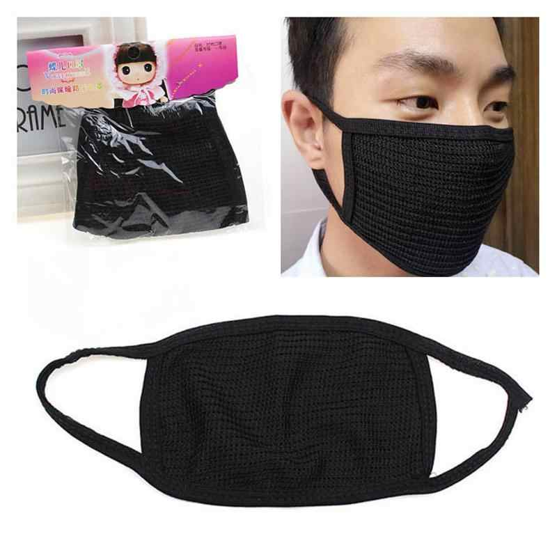 Face Masks Filter Mouth Anti Dust Haze Mask Black Cotton