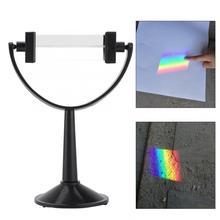 Новое Оптическое стекло треугольная призма с подставкой физика свет спектр обучающий инструмент для обучения физике световой спектр