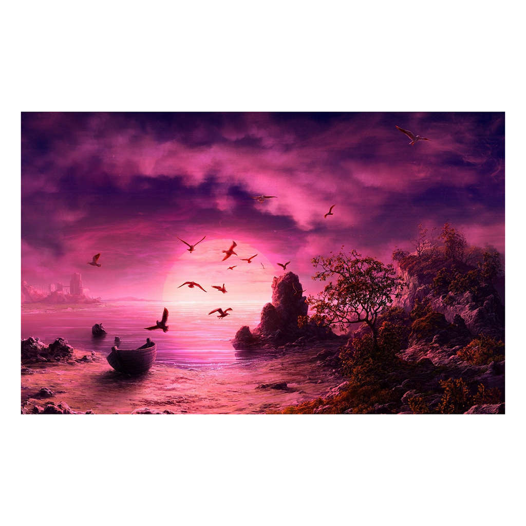 Diy 5D Diamond Painting Rhinestone Diamond Embroidery Paintings Pictures Arts Craft For Home Wall Decor Sunset Returning <font><b>30</b></font> * <font><b>40</b></font> image