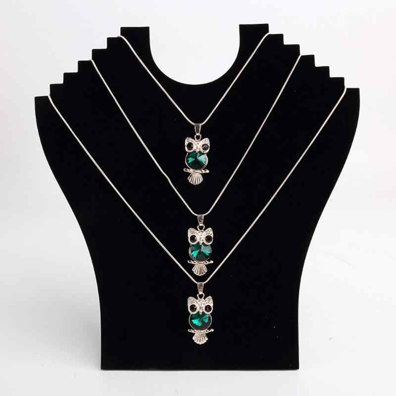 Jewelry Accessories Black Necklace Bust Holder Storage Shelter Pendant Chain Stand Neck Easel Showcase oorbellen houder