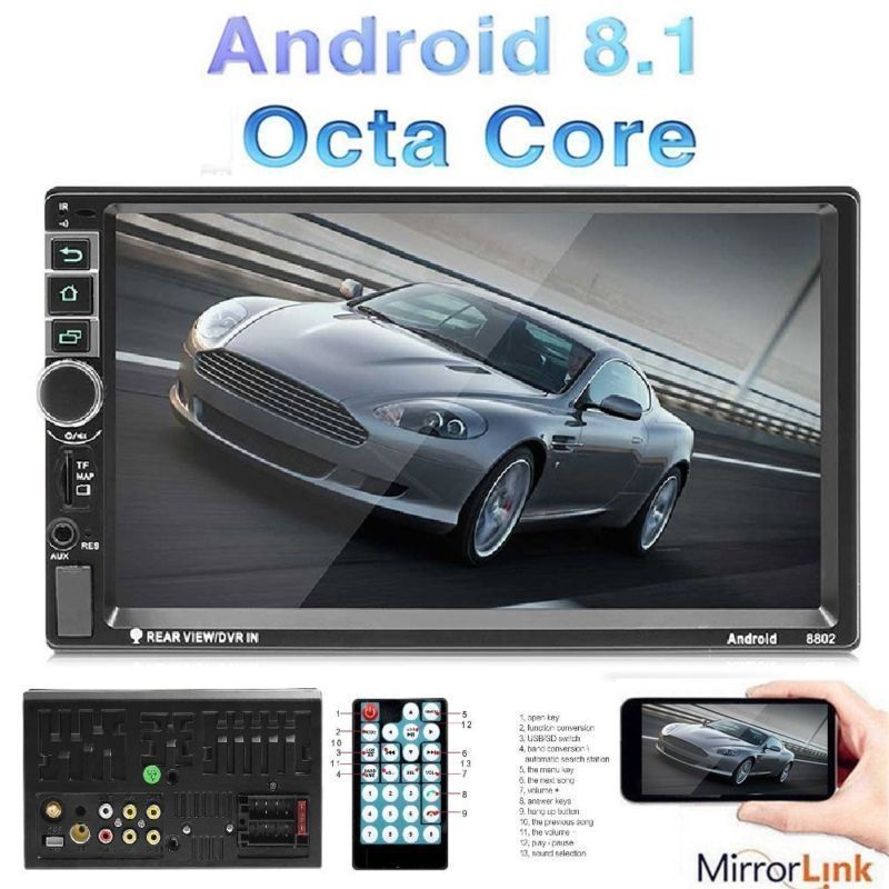 Auto Car Radio Player Radio Bluetooth GPS Navigation Car Stereo Fully Capacitive Touch Screen Quad Core