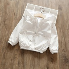 spring girl jackets for girls coats outerwear white print cat baby coat fashion kids clothes children shinning boutiques
