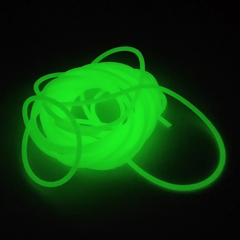 Luminous Fishing Tube 1 Piece 4 Meters Diameter 1mm Soft Silicone Fishing Sleeves Fishing Rig Hook Line Accessories