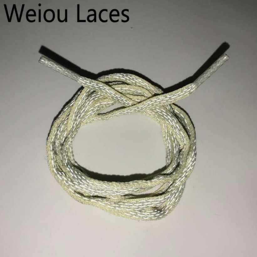 Weiou yarım daire 3M yansıtıcı ayakkabı bağı Oval halat danteller atletik çocuk Bootlace vurgulamak ayakkabı güvenlik koşu Shoestrings