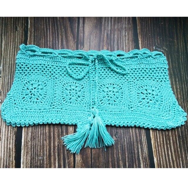 Boho Knit Crochet Beach Shorts 6