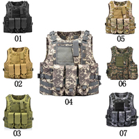Airsoft Military Tactical Vest Molle Combat Assault Plate Carrier Tactical Camouflage Vest CS Outdoor Clothing Hunting Vest