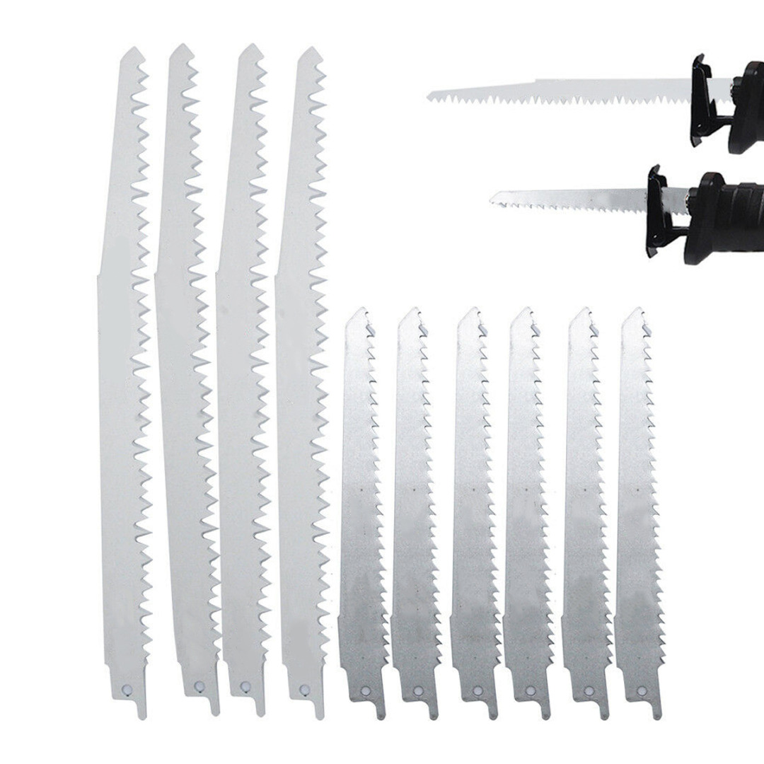 10pcs Reciprocating Saw Blades S1531L + S644D Saber Saw Blade Wood Metal Fine Cut Saw Blades