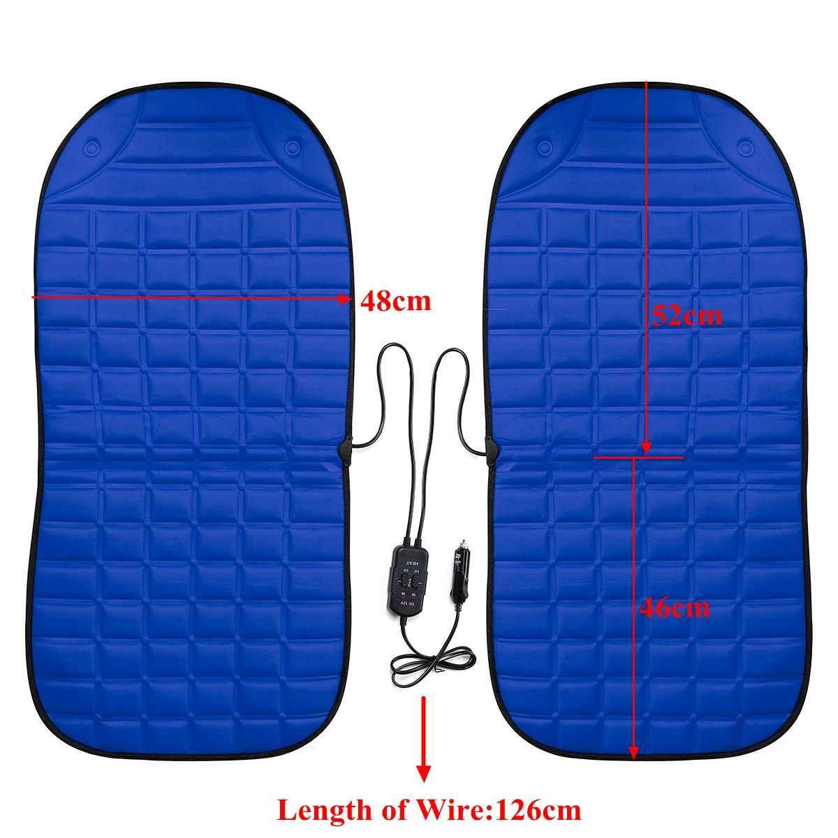 2 шт. в 1 быстрый нагрев и регулируемый черный/серый/синий/красный автомобиль Электрический Подогрев сиденья автомобиля Стайлинг зимняя подушка для сиденья подушки авто чехлы