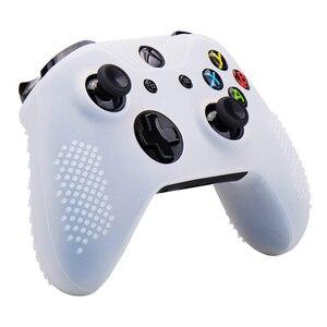 Image 4 - סיליקון גומי כיסוי עור מקרה אנטי להחליק עבור Xbox אחד/S/X בקר X 2 (שחור & לבן) + Fps פרו נוסף גובה אגודל כידון X
