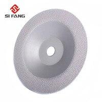 180mm Vacuum Brazed Diamond Grinding Cup Wheel Cutting Disc Stone Grinding Tool