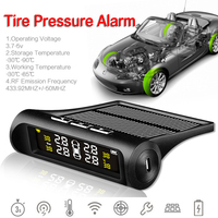 Zeepin Car TPMS Tyre Pressure Detector Solar Wireless External 4 Sensors Real time Alarm Warning USB Charge Vehicle Monitoring