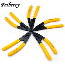 5 pcs CFS-2 Fiber Optic Stripping Plier Optical Cable Peeling Two-hole Steel Plier CFS-2 Optical Fiber Stripper for FTTH CATV