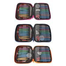 13 пар алюминиевых сменных головок, Набор круглых спиц для вязания, крючков, свитера с шарфом, тканые инструменты, аксессуары для рукоделия