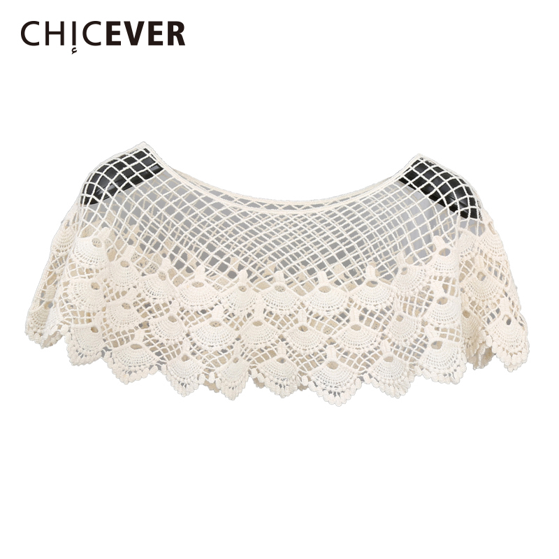 CHICEVER Lace Female T-shirt O Neck Short Sleeve Hollow Out 2020 Korean Fashion Short Women's Tops Sexy Casual Clothing New